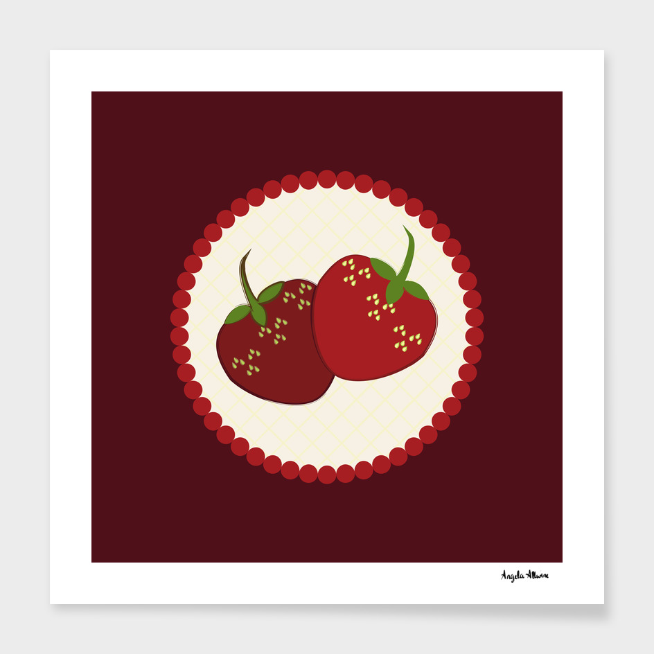 Summer Strawberry Cream Pie Art