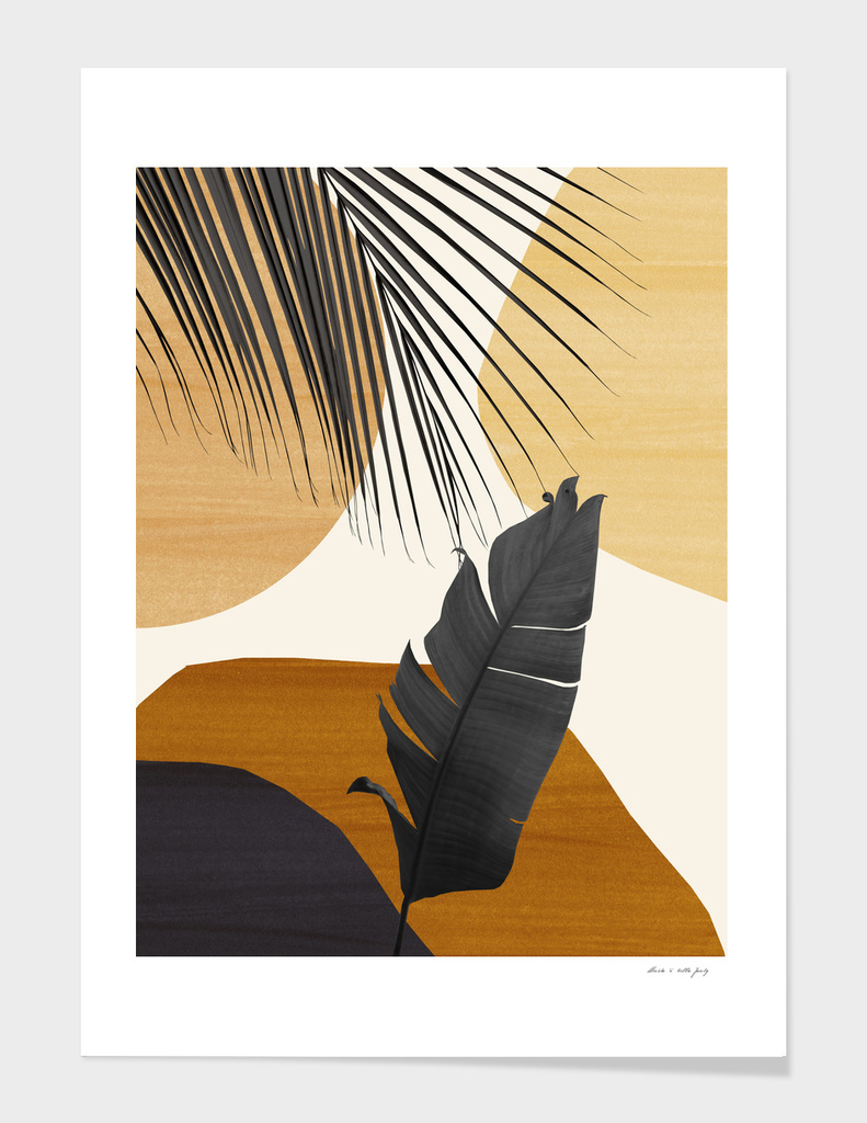 Tropical Banana Leaf Abstract Finesse #2 #tropical #decor