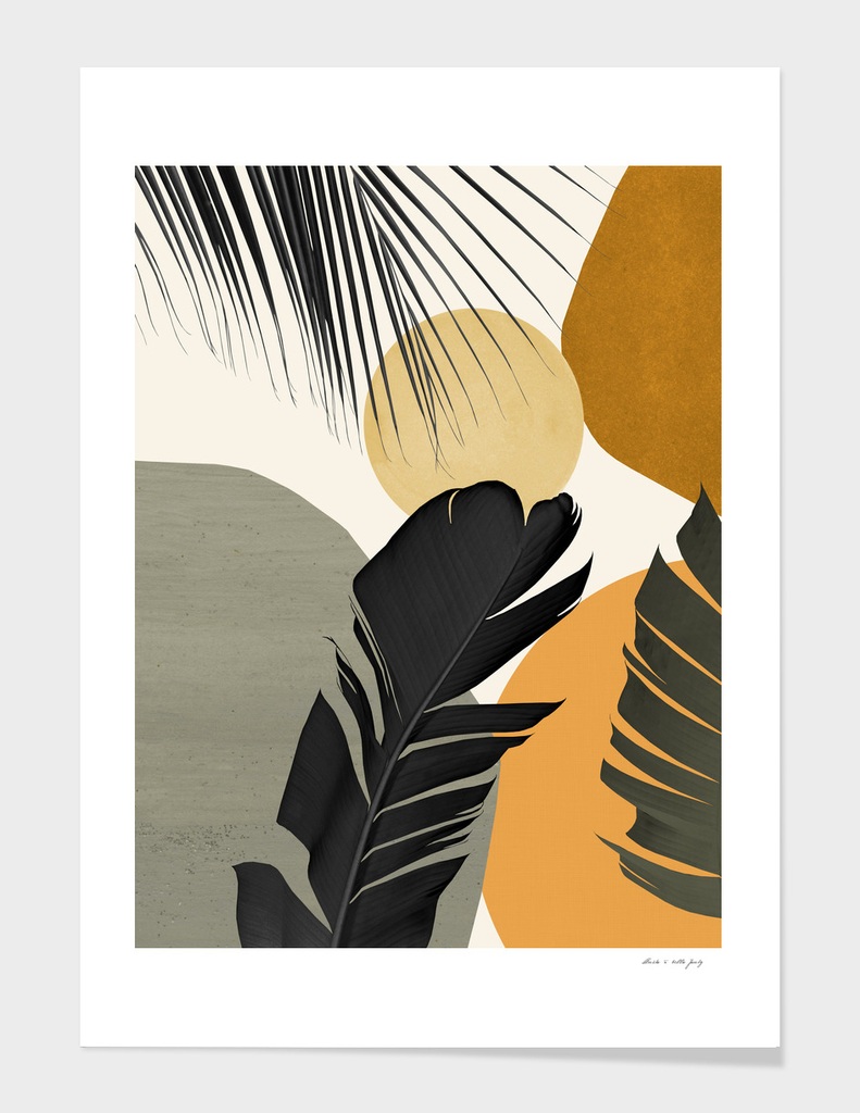 Abstract Banana Palm Leaf Finesse #2 #tropical #decor #art