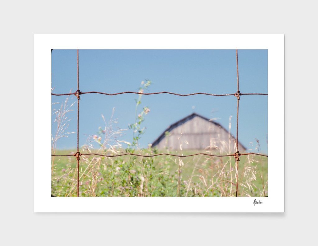 19770804 Fence Shot, Barn behind hill STRAIGHT copy