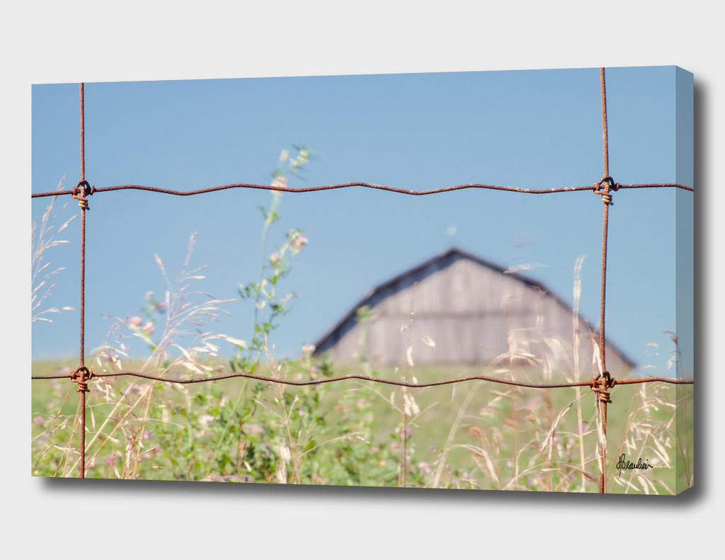 19770804 Fence Shot, Barn behind hill STRAIGHT copy