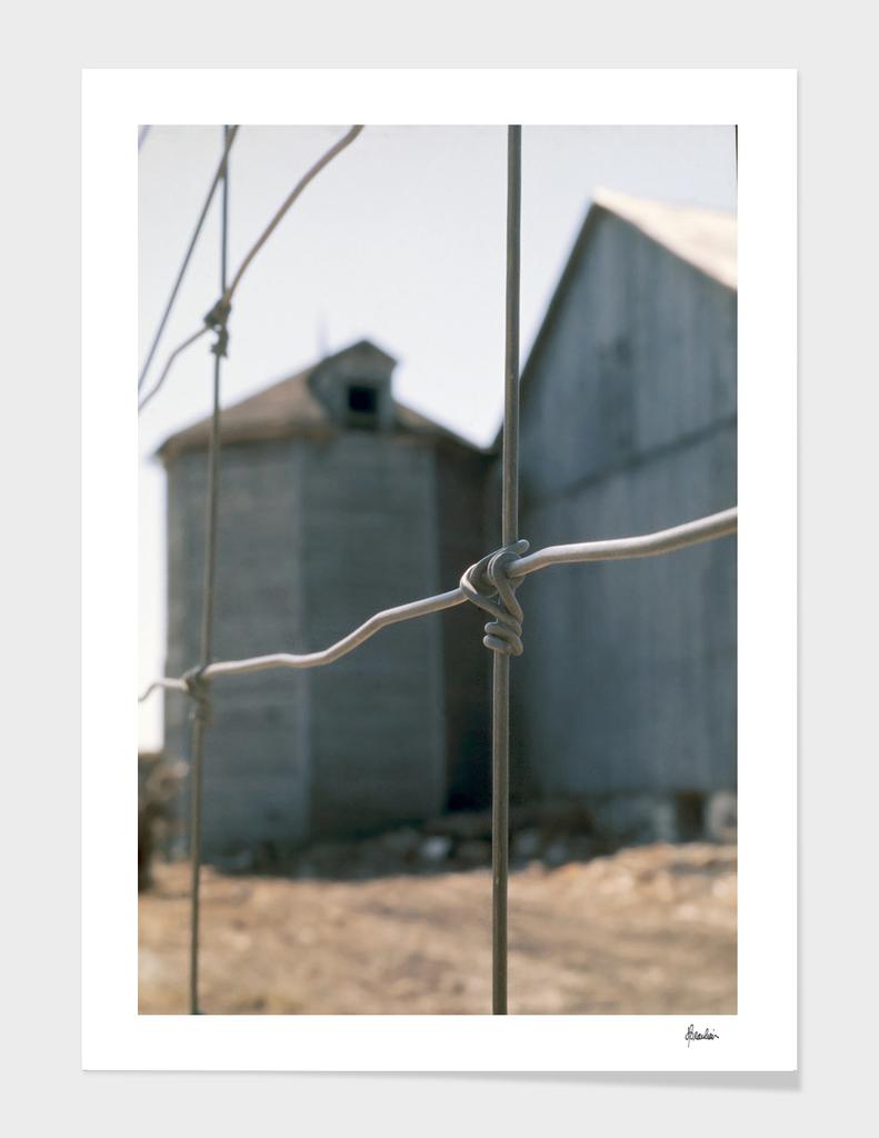 1976 Spring, Octagonal silo, fence