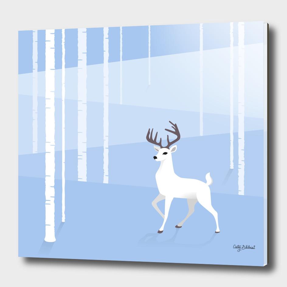 Reindeer and Birch