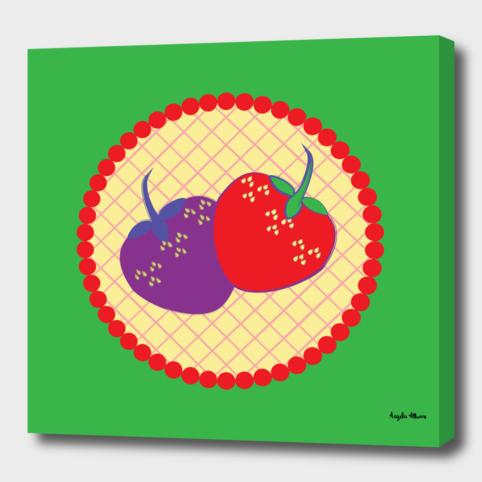 Bright Strawberry Cream Pie Art