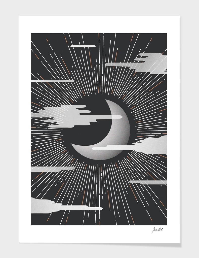 The Moon, illustration, digital drawing stellar