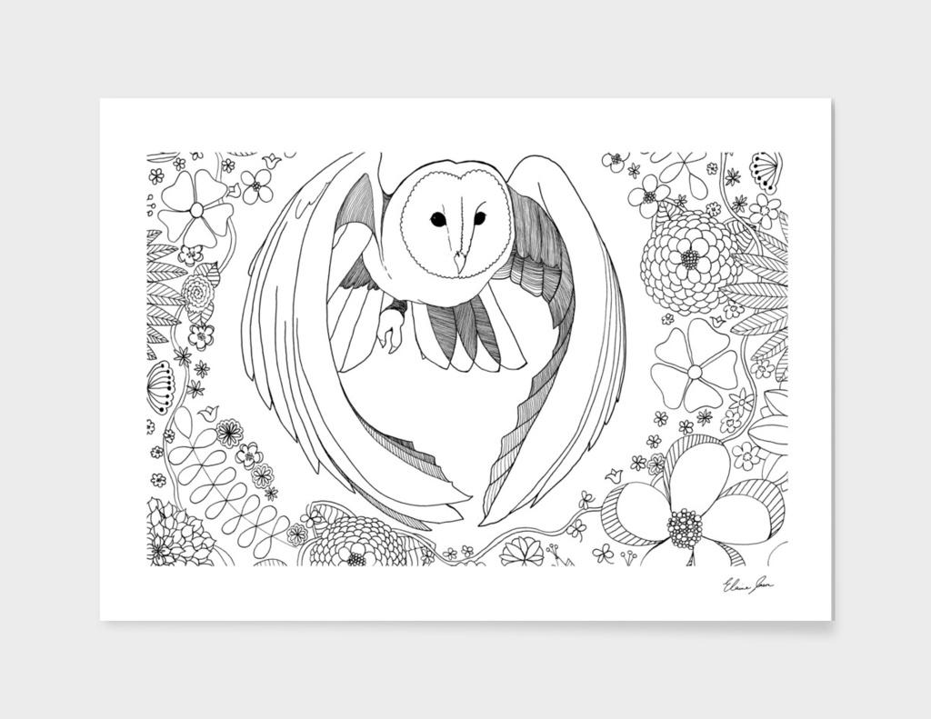 Owl Floral
