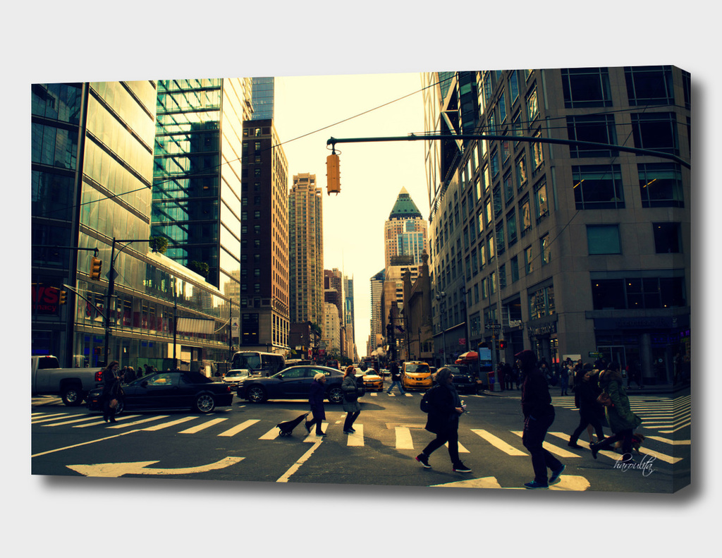 Walking in New York