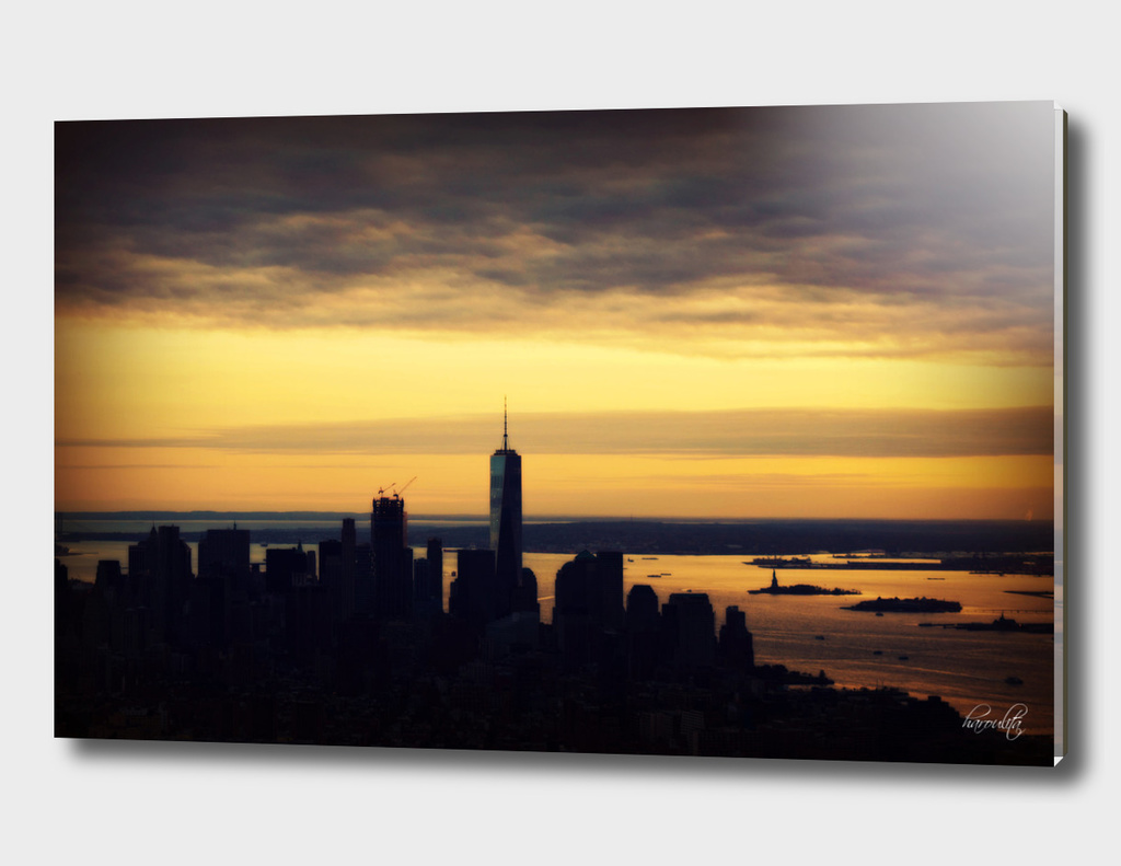 NY Skyline Sunset