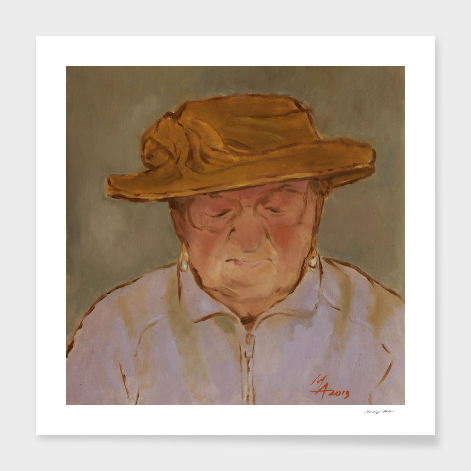 Old Woman with Yellow Hat