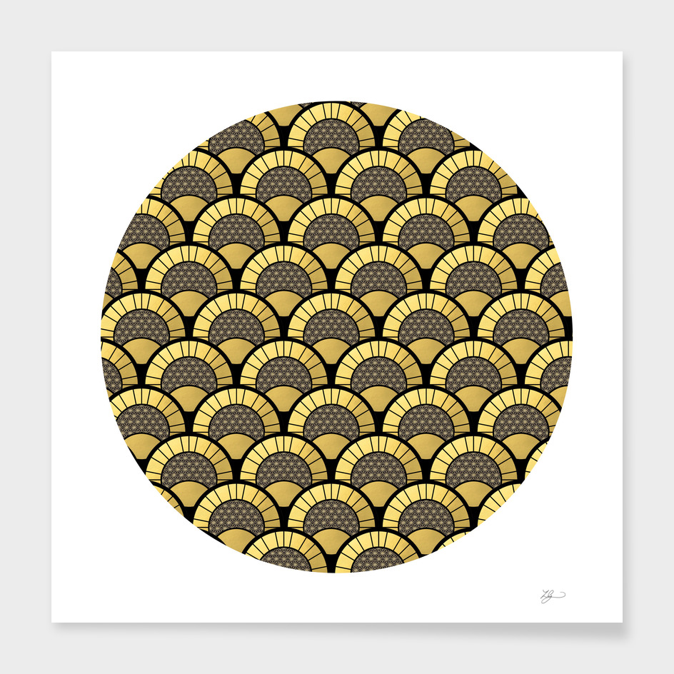 Curioos Exclusive Black and Gold Print