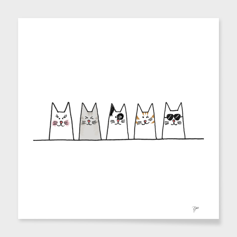 Cool Cats Illustration