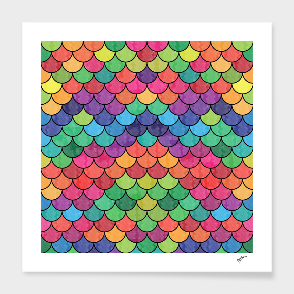 Watercolor Lovely Pattern VVXVII