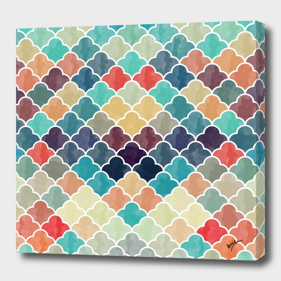 Watercolor Lovely Pattern VVXI