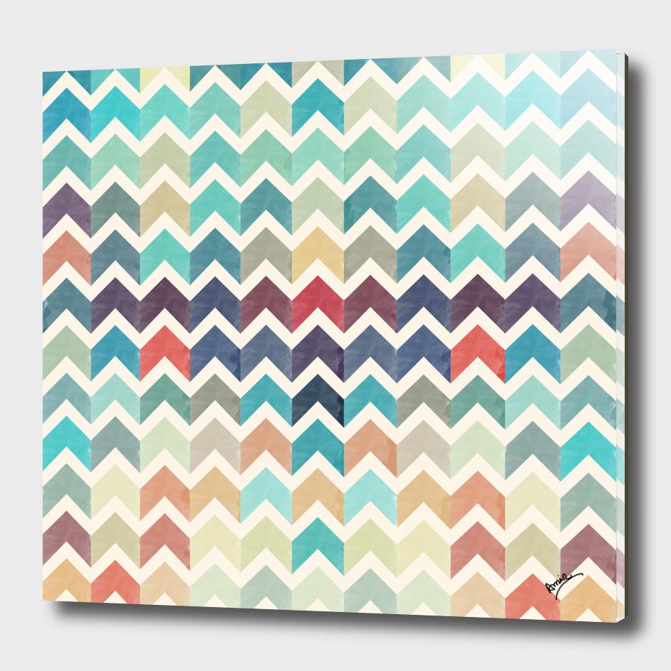 Watercolor Chevron Pattern II
