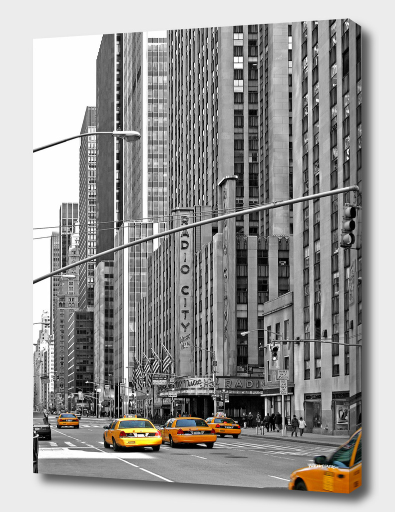NYC - Yellow Cabs - Radio City Music Hall