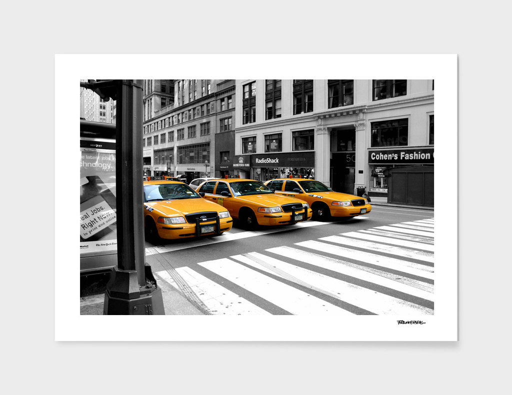NYC - Yellow Cabs - Radio Shack