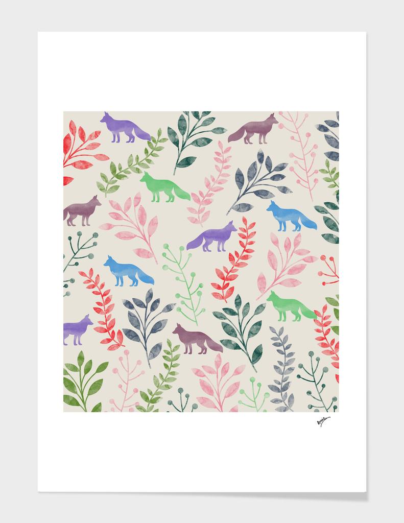 Watercolor  & Fox IV