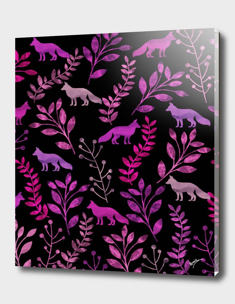 Watercolor Floral & Fox III