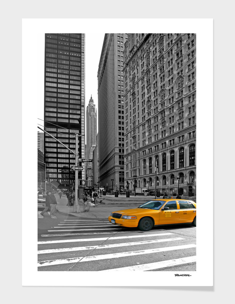 NYC - Yellow Cabs - Trinity Place
