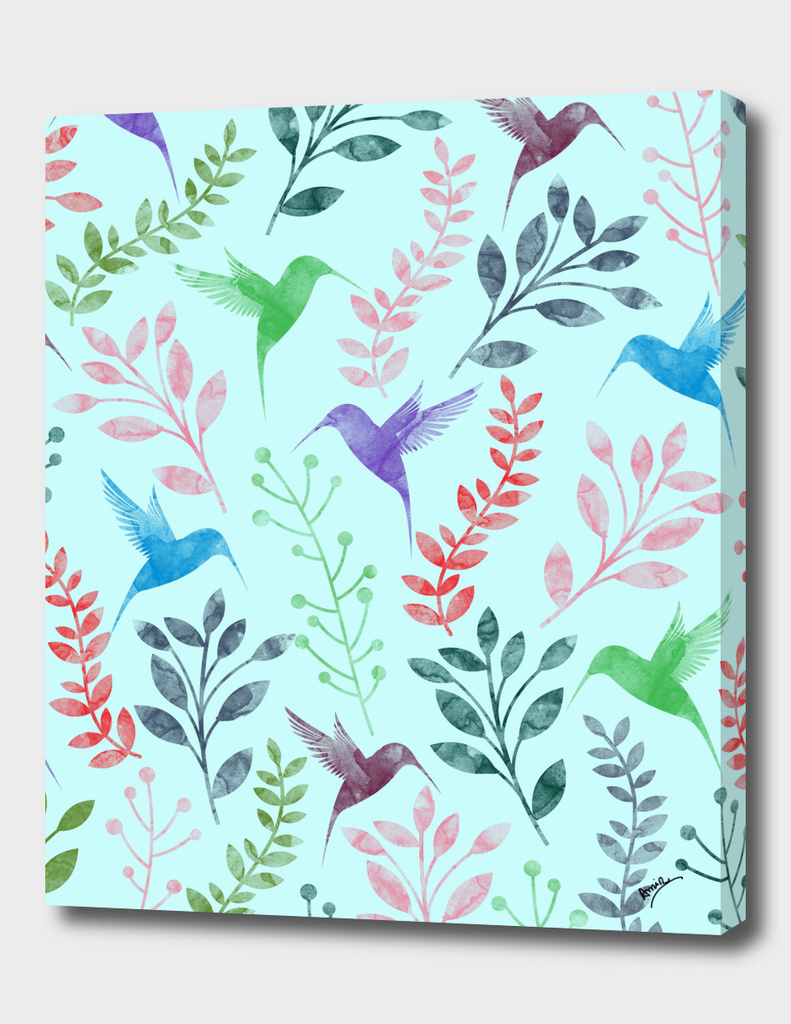 Watercolor Floral & Birds II