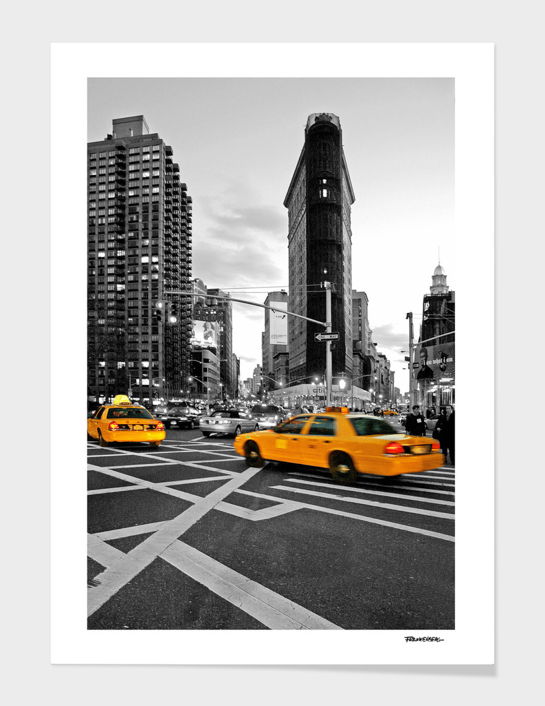 NYC - Yellow Cabs - Flat Iron Building