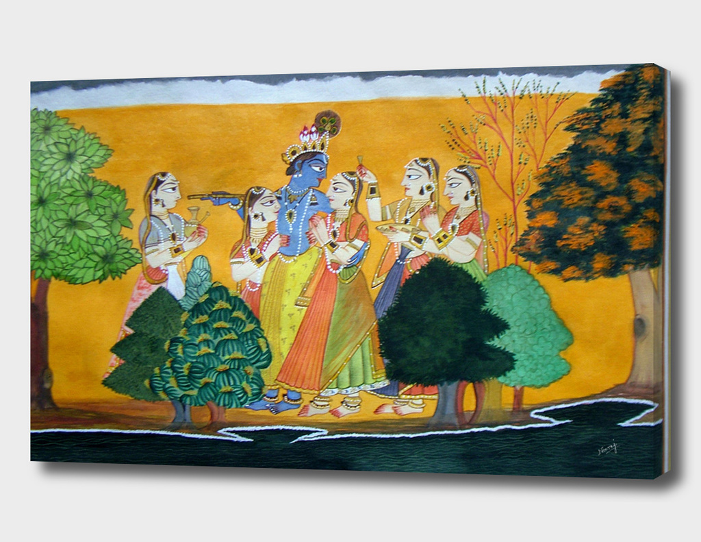 Krishna Radha and Gopies