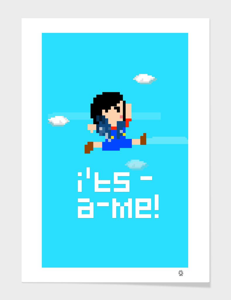 Pixel Mario Girl