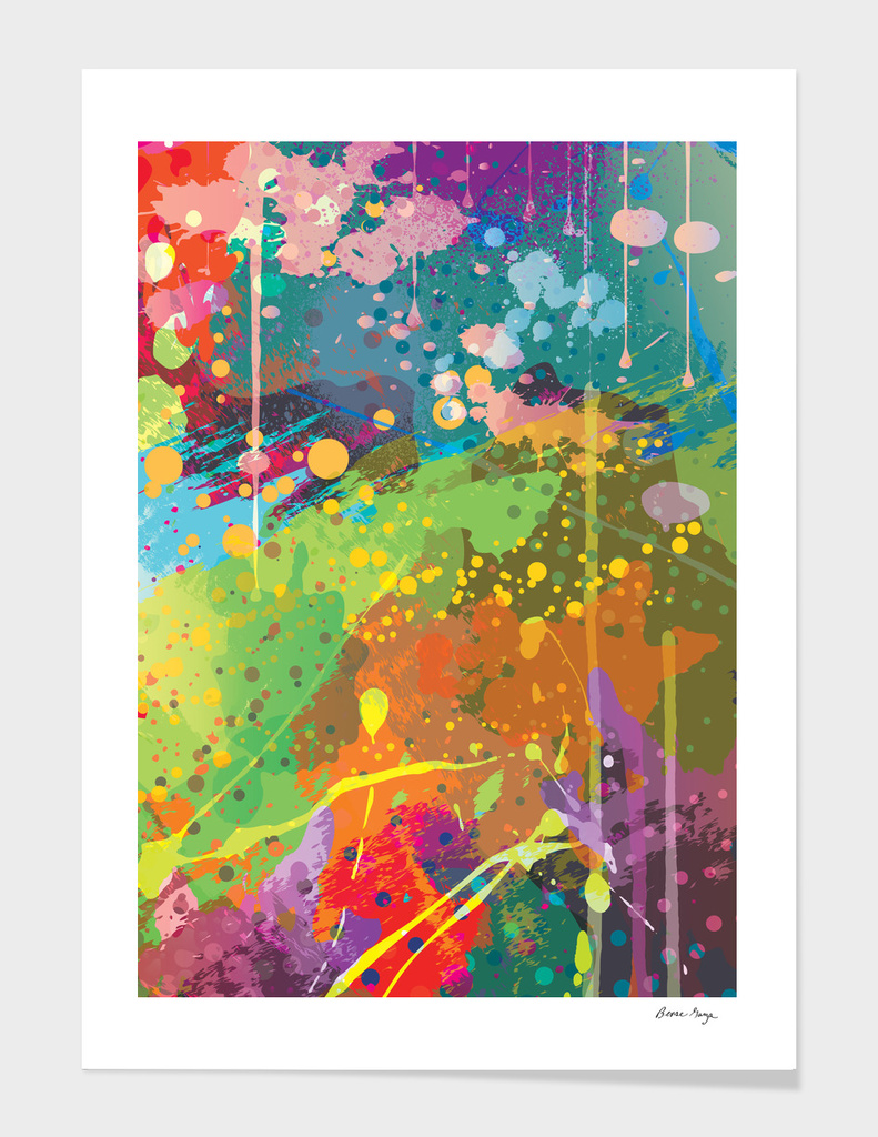 Abstract Splatter