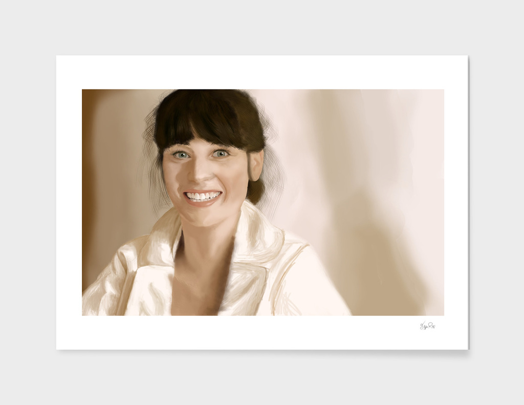 Digital Painting - Zooey Deschanel