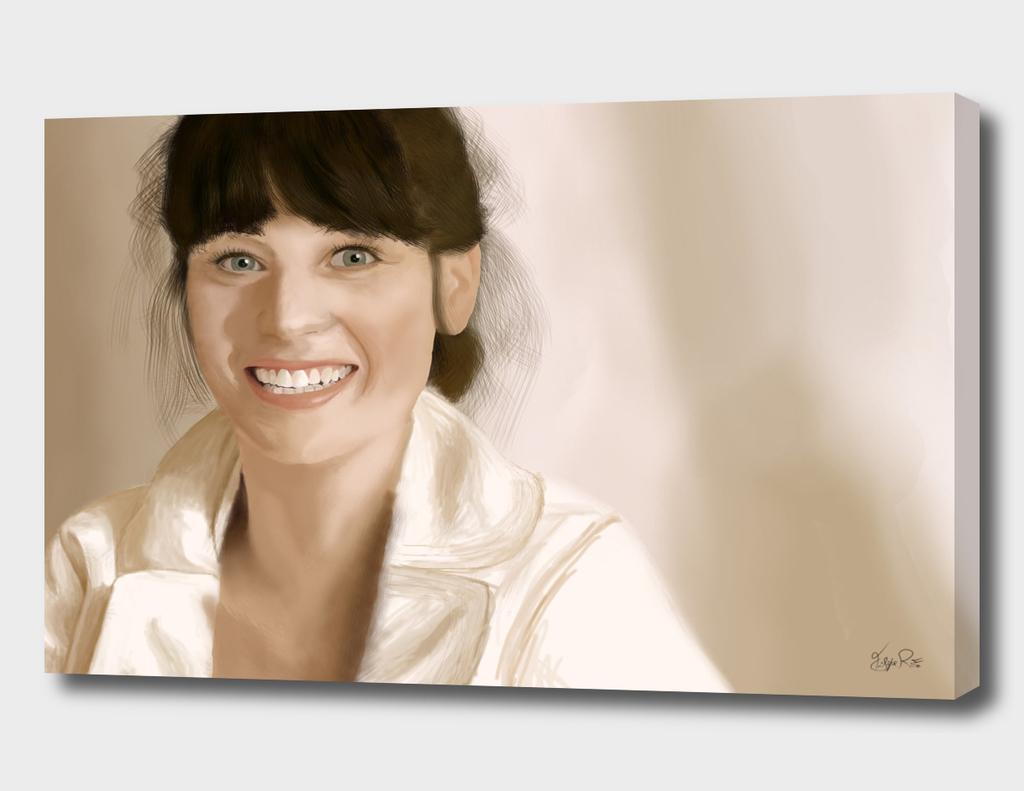 Digital Painting - Zooey Deschanel