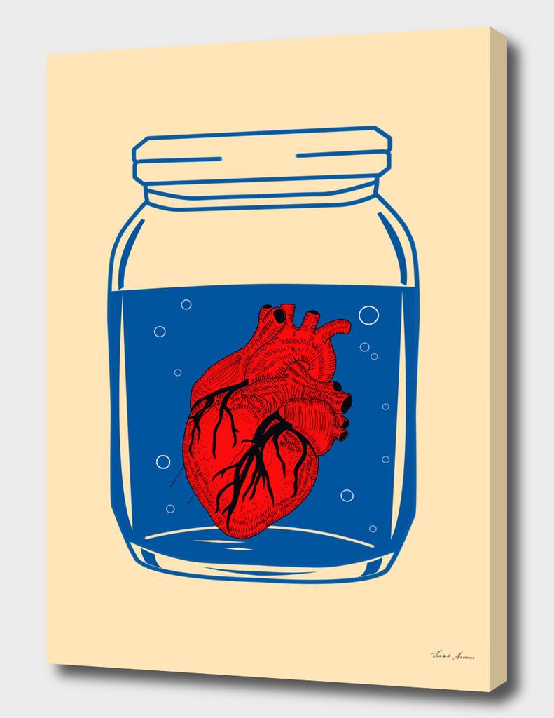 Heart in jar