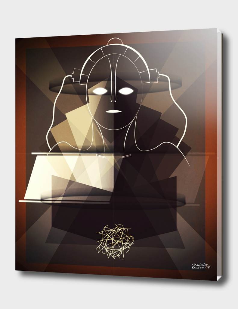 Metropolis Art Deco Poster