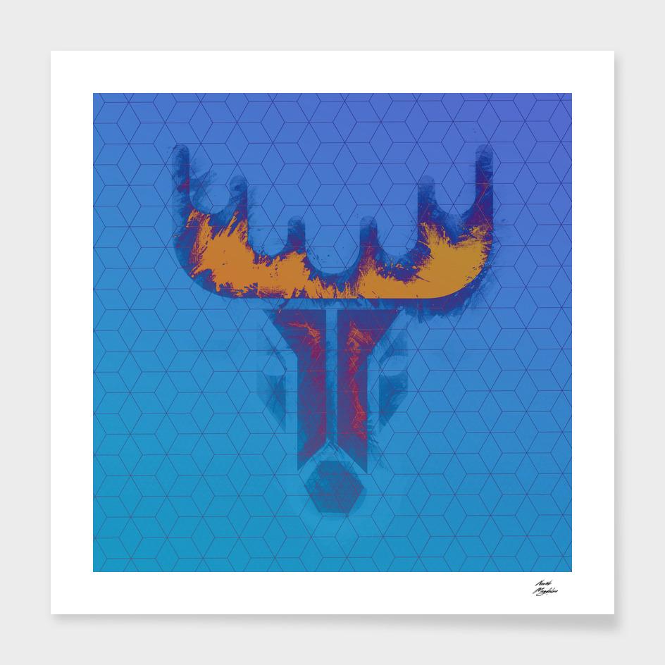 inverted raindeer