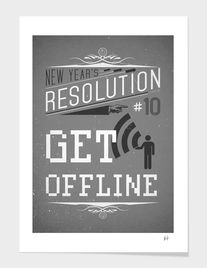 New Year's resolution #10