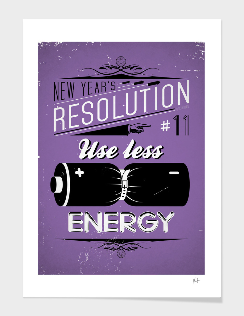 New Year's resolution #11