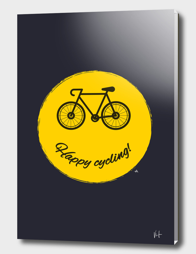 Happy biking