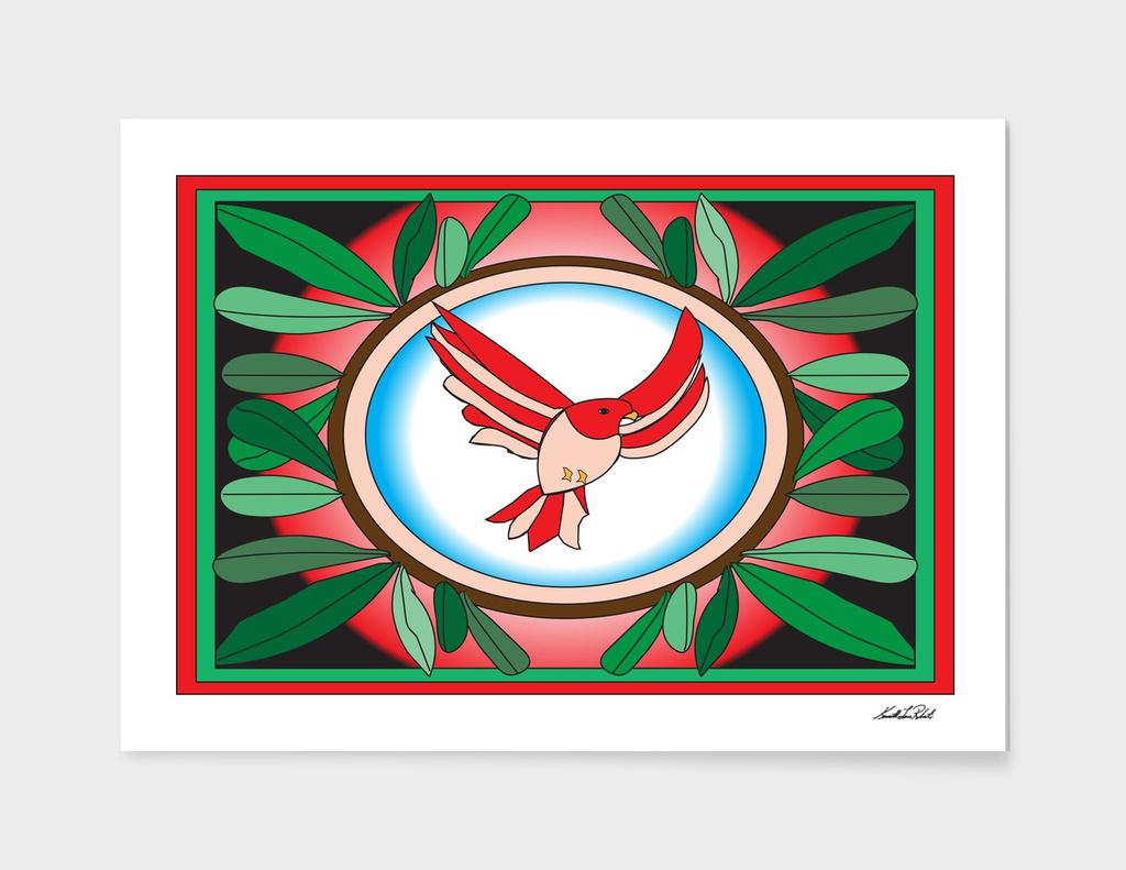 Bird Stain Glass