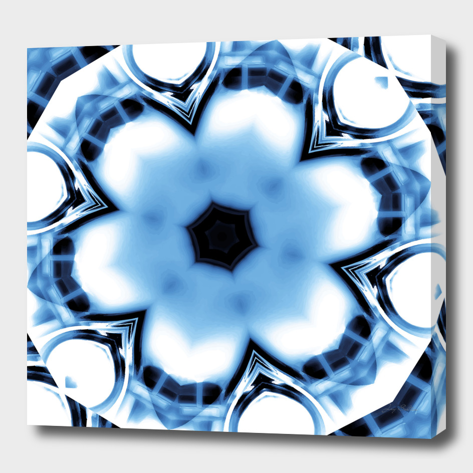 Liquid Chrome Abstract Mandala