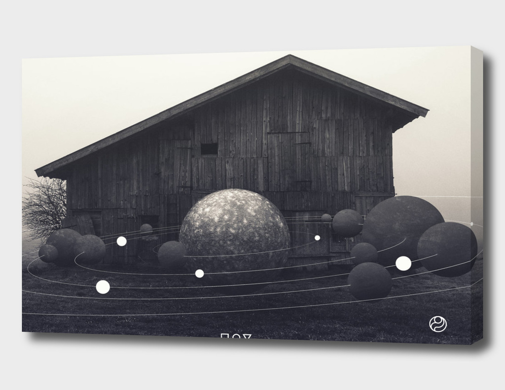 near the barn