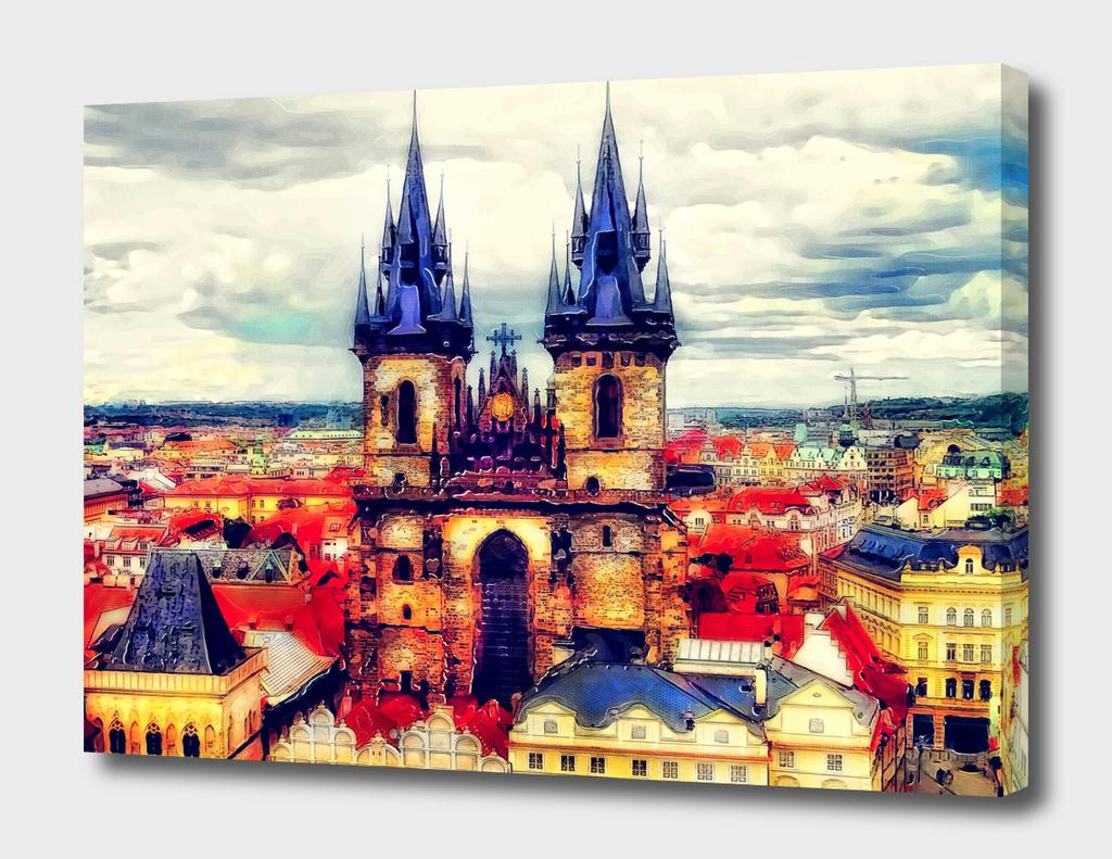 Prague Church Of Our Lady Before Tyn