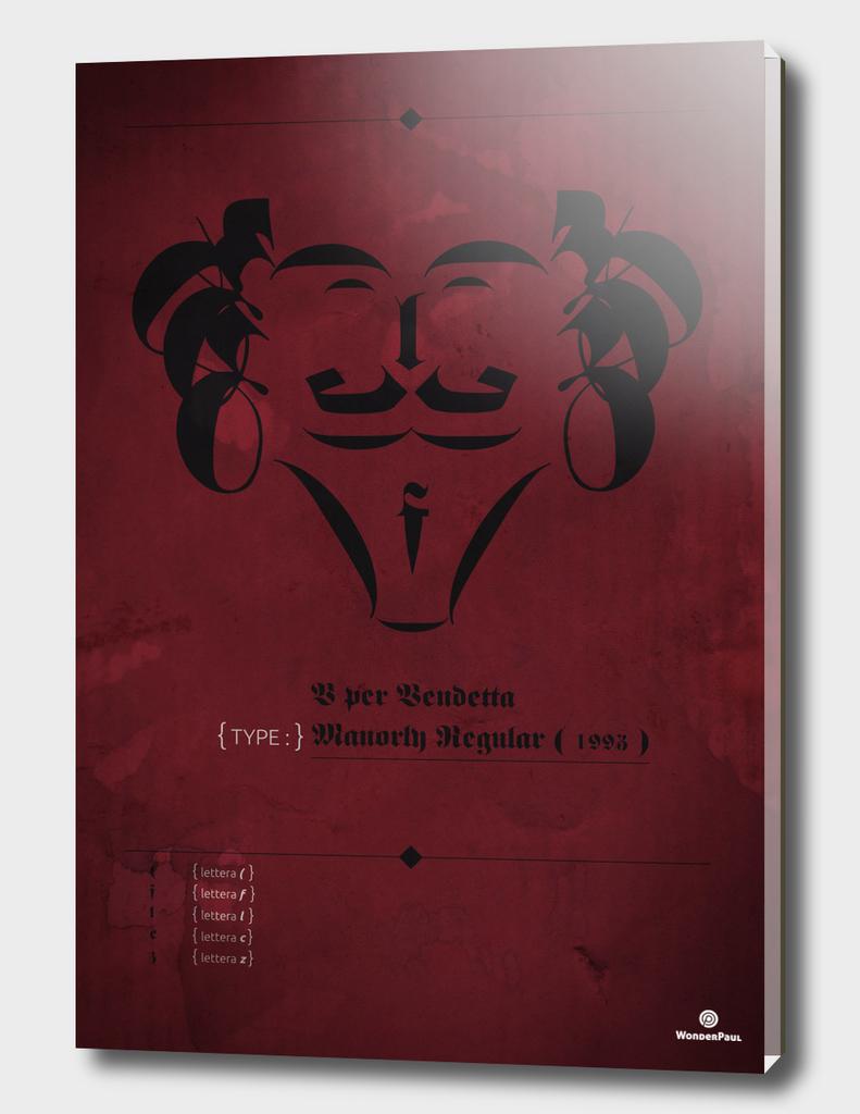 Poster Facelettering | V for Vendetta