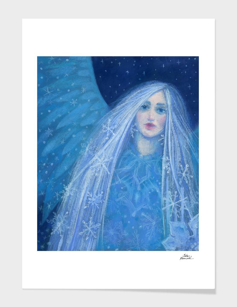 Metelitsa, Snow Girl Angel Snowgirl, Winter Fantasy Art