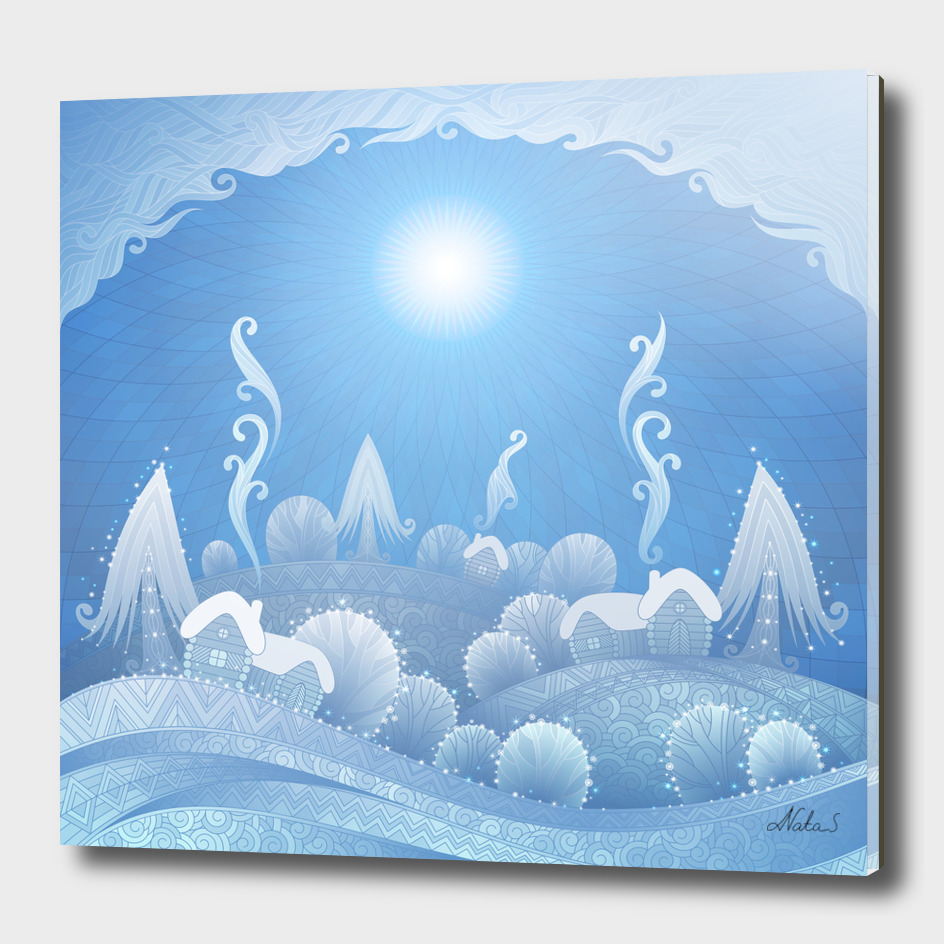 new year landscape. crystal winter