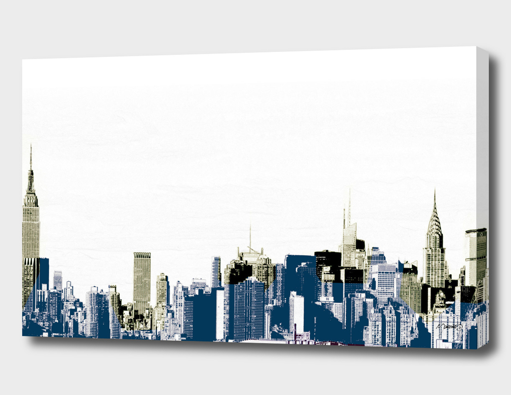 Layers of Mid Town Manhattan rustic pop art graphic