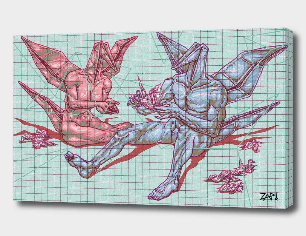 Origami Crane Heads