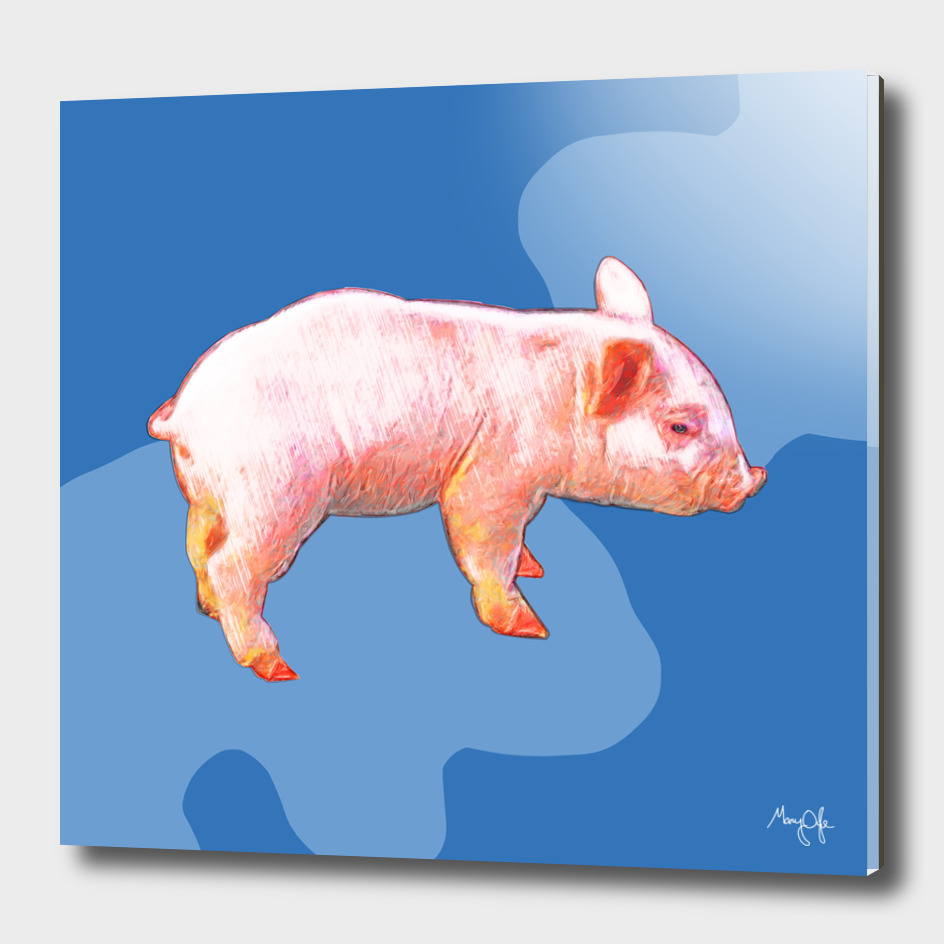 Piglet on Blue