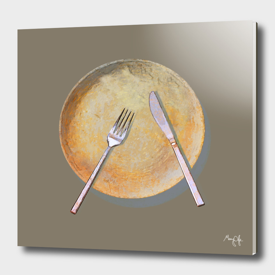 Plate on Grey