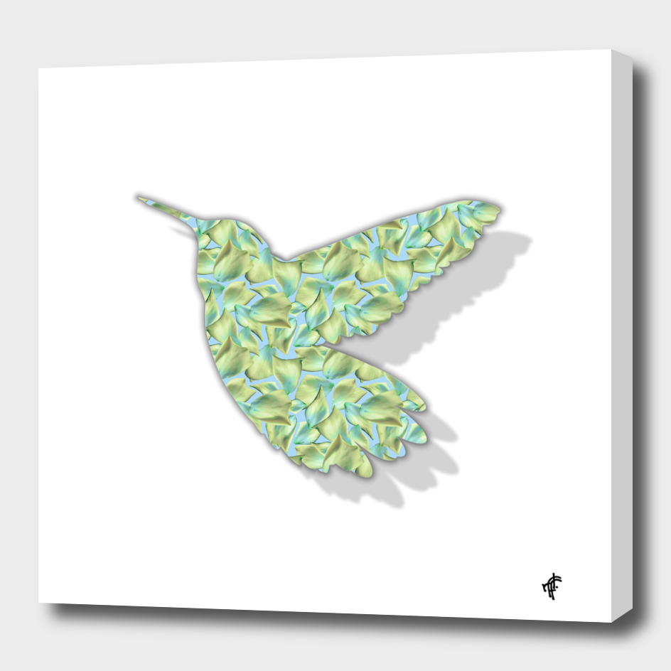 Hummingbird in Floral Vintage
