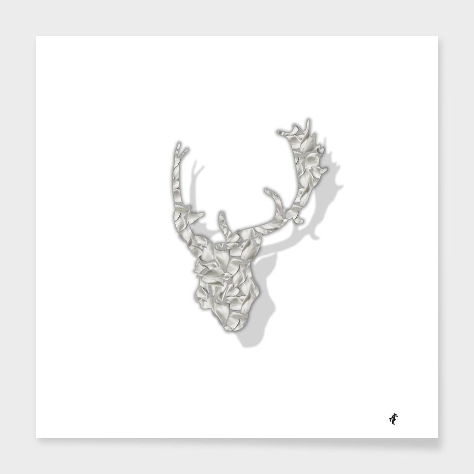 Deer in Floral Silver