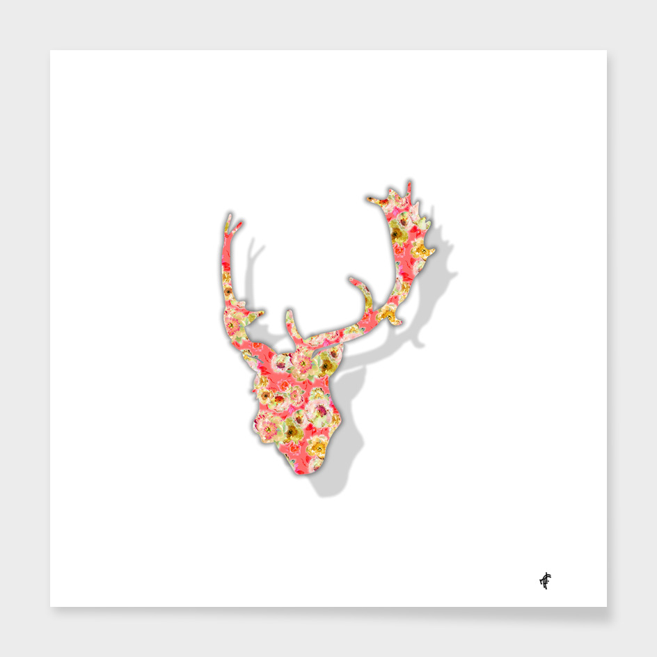 Deer in Fancy Florals
